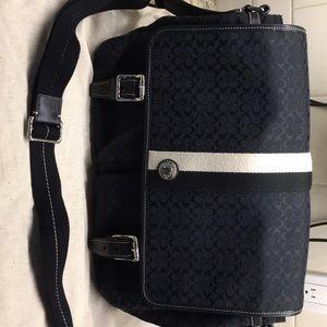 Coach canvas laptop bags
